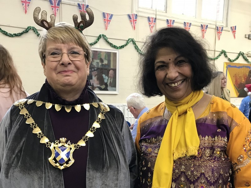 Festive cheer and fabulous food at HILS' annual Christmas bash for over 65s